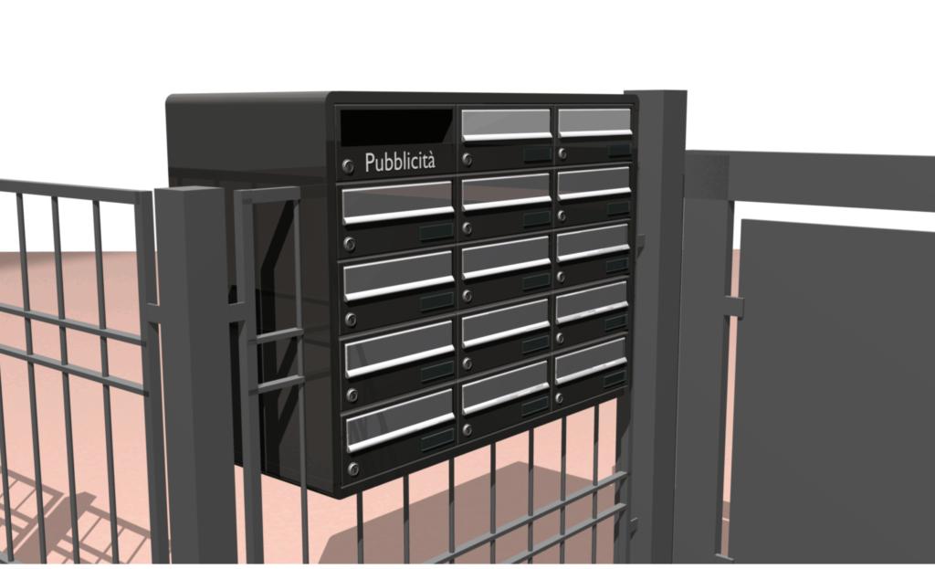 Rendering casellario postale condominiale