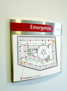 Segnaletica di sicurezza - mappa vie di fuga