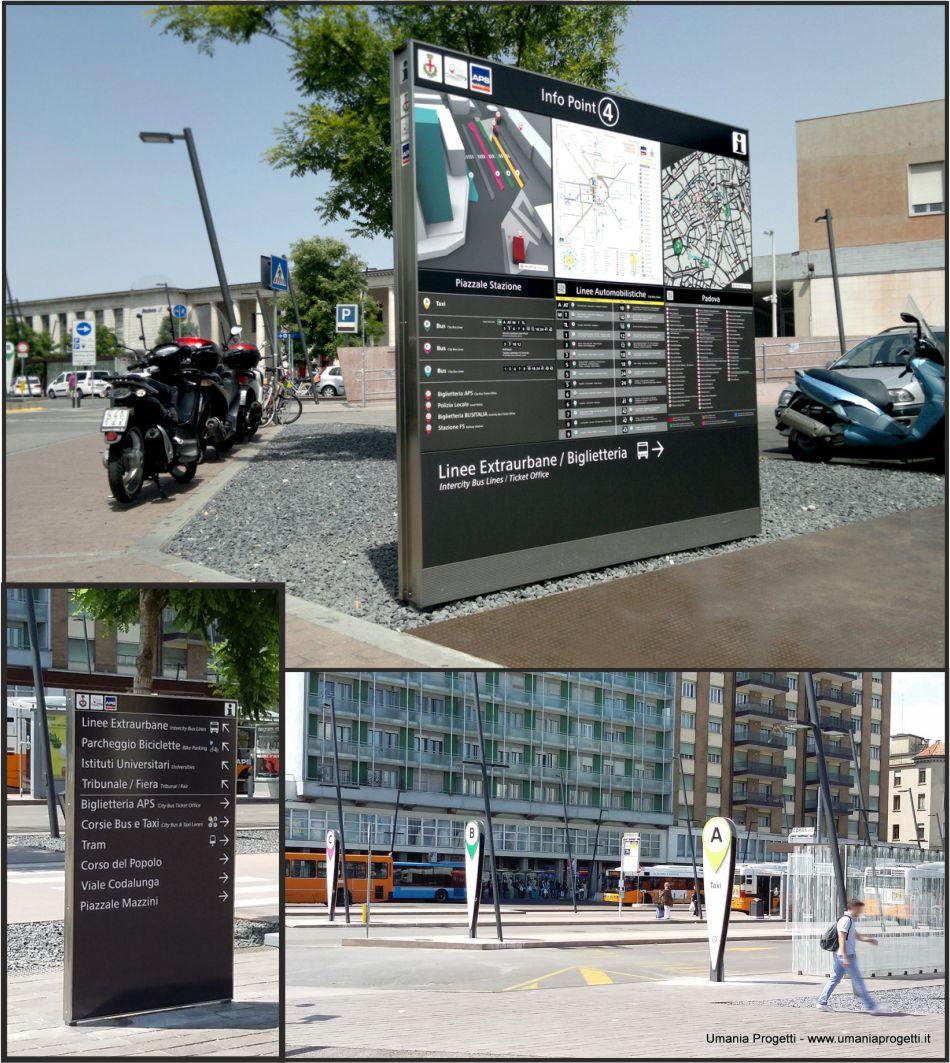 Totem a progetto per Piazzale Stazione di Padova